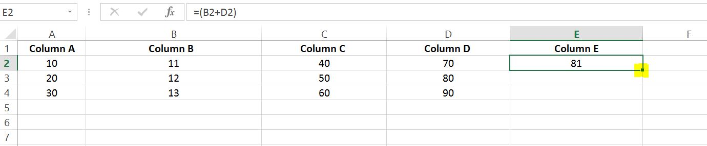 Google Spreadsheets sum or rows of certain columns - Stack Overflow