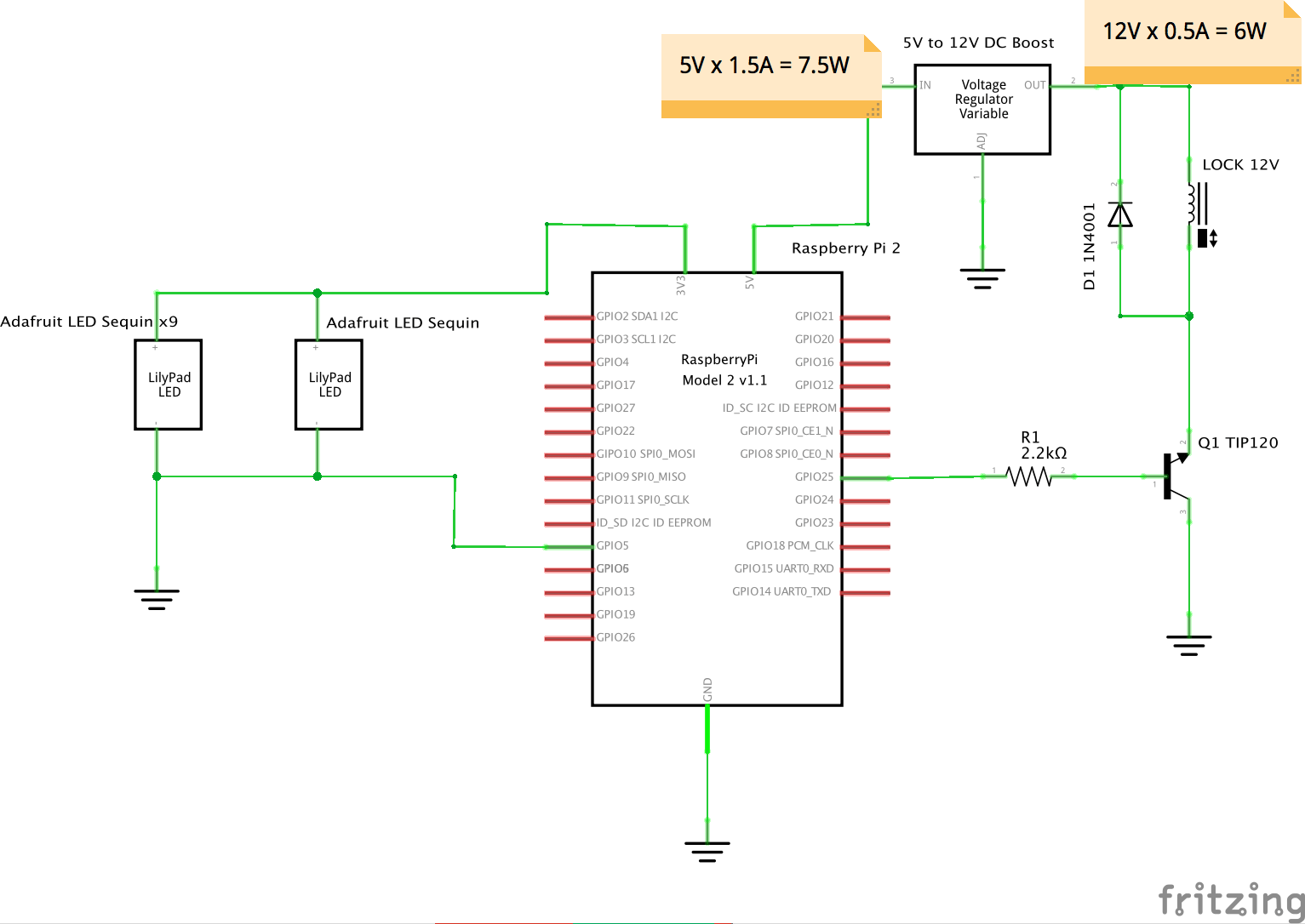 hight resolution of raspberry pi with leds and lock solenoid fritz diagram