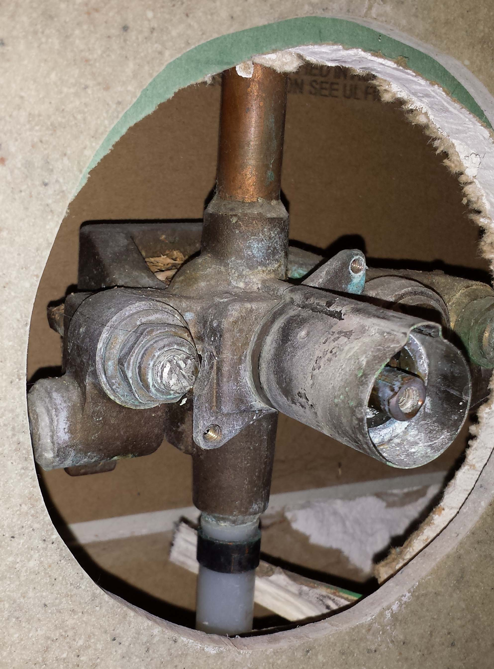 plumbing  How can I support an already installed shower