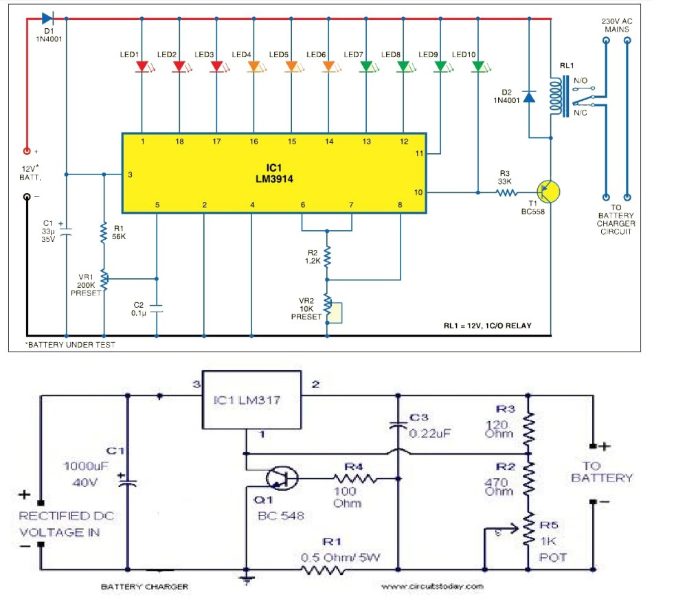 medium resolution of circuit diagram of power supply unit and battery level indicator