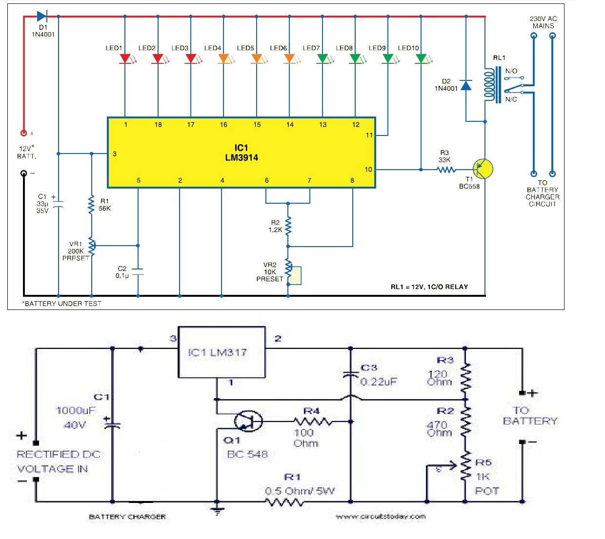 hight resolution of circuit diagram of power supply unit and battery level indicator