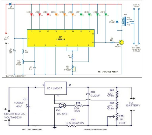 small resolution of circuit diagram of power supply unit and battery level indicator