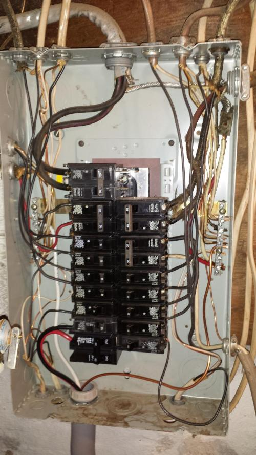 small resolution of electrical panel is the wiring in this subpanel correct home wiring a new sub panel in to get 240 wiring a new sub panel