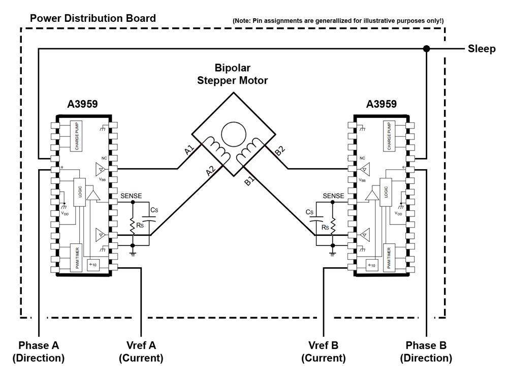 Interfacing with (Two) Full-Bridge PWM Motor Drivers to