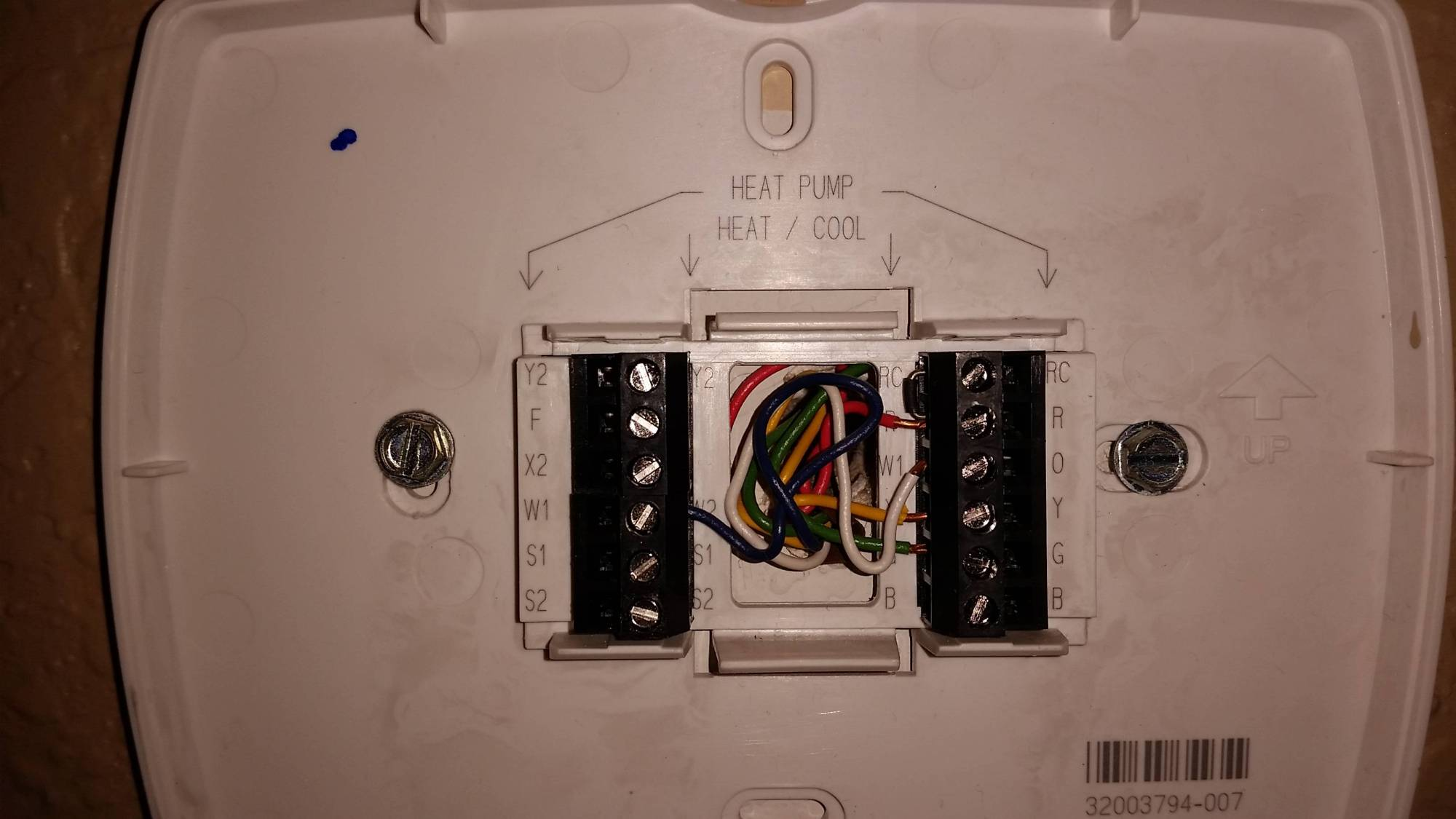 hight resolution of old thermostat