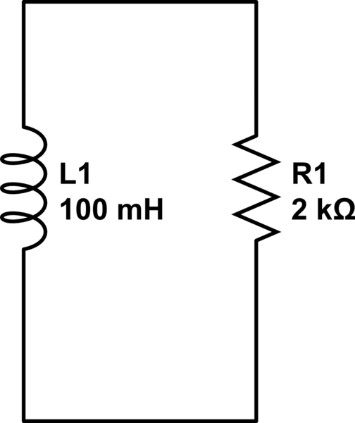 Voltage and current calculations, Resistor and inductor in