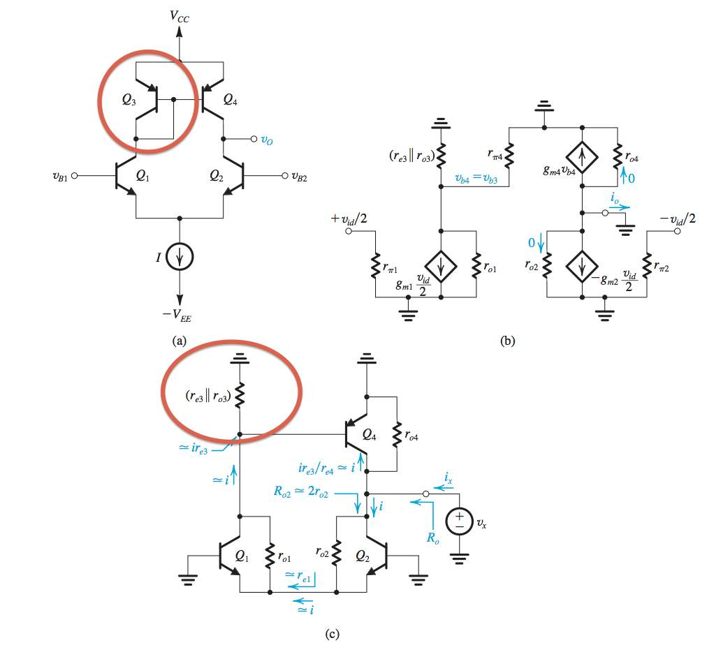 Modeling diode connected transistor in differential