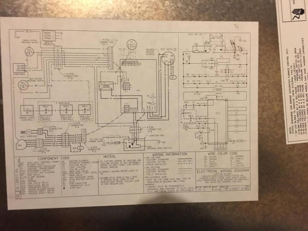 medium resolution of also the ifc model number is 1012 925a and the hvac unit is a rheem classic 90 plus i don t know the if the number on the wiring diagram is the model