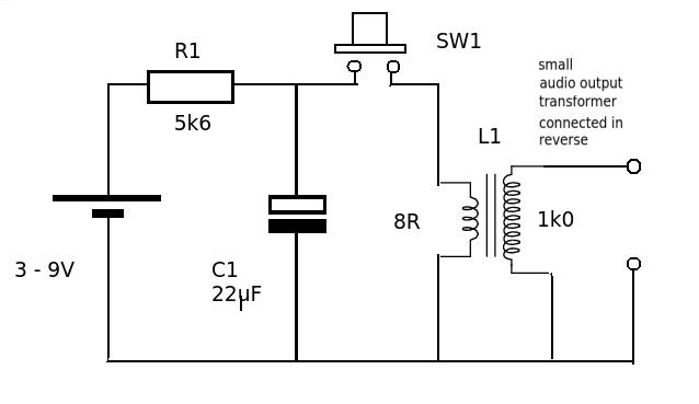 Electric Shock Circuit Diagram