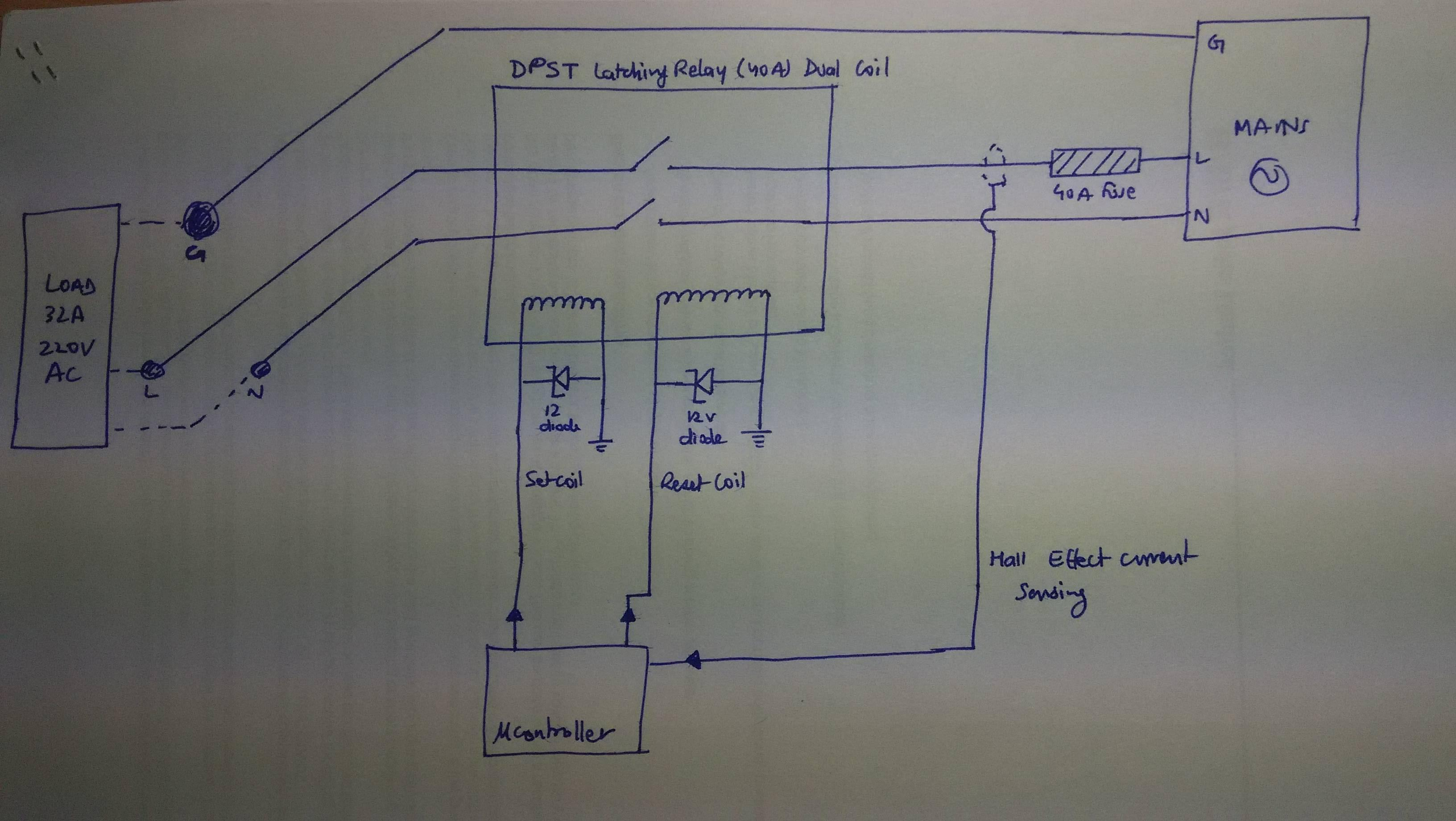 5 Wire Motor Reversing Diagram Microcontroller Using Dpst Relay To Control Ac Load