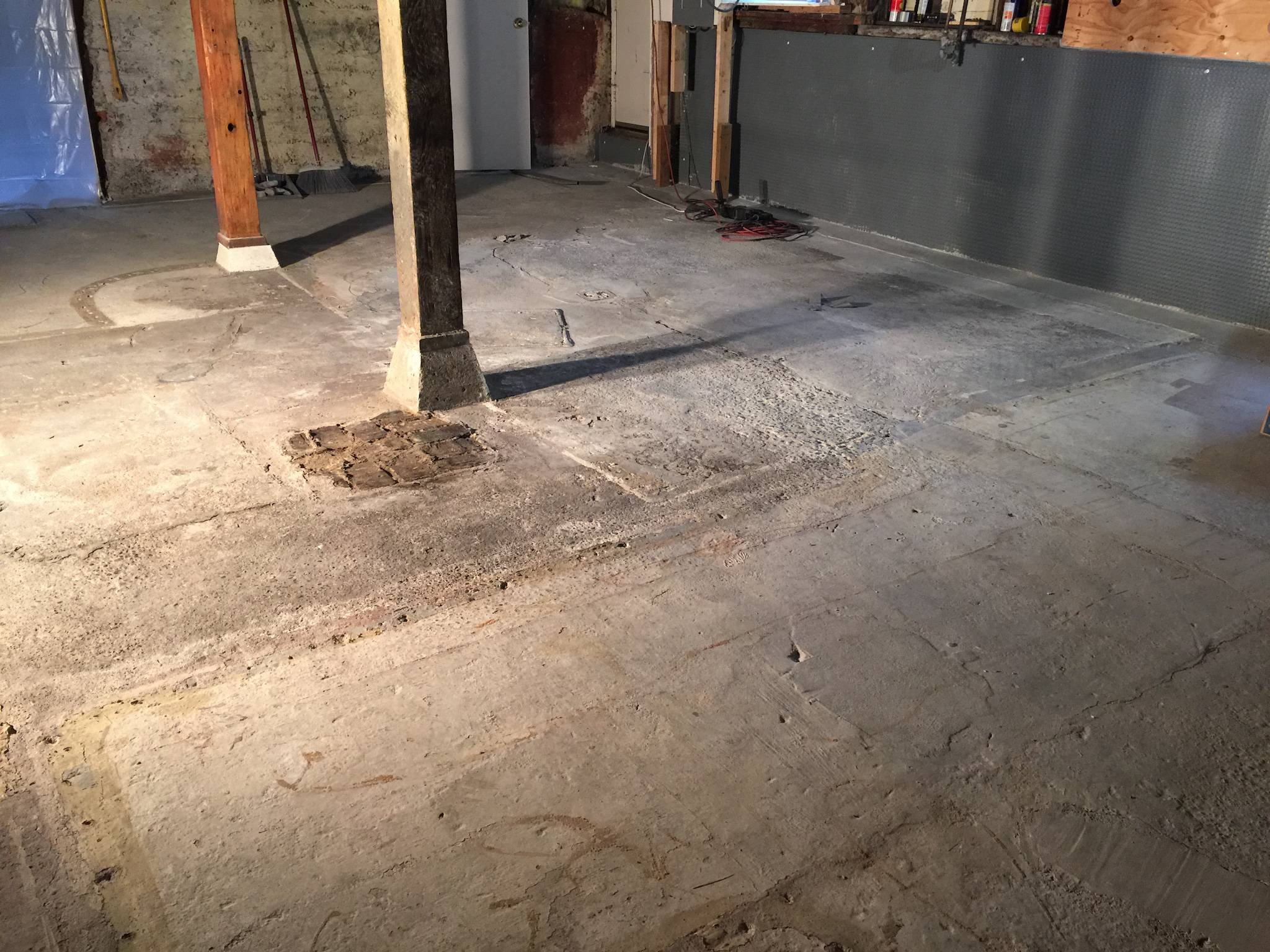 What's The Best Way To Level This Basement Floor? Home
