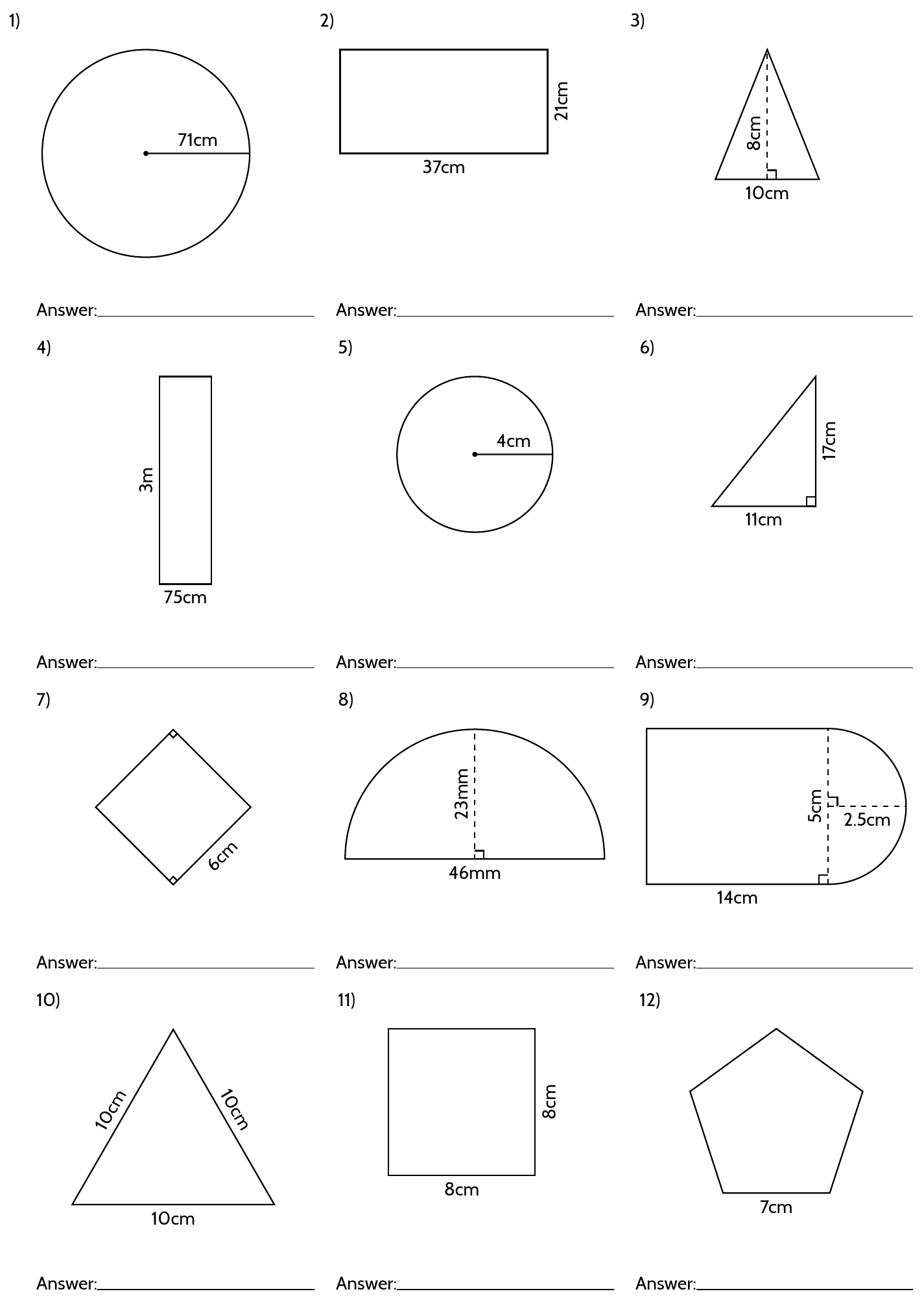 Drawing Geometric Shapes In Latex