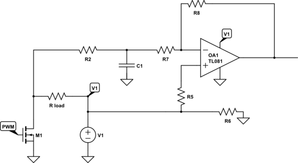 circuit correct voltage measurement of a load resistor enlarge