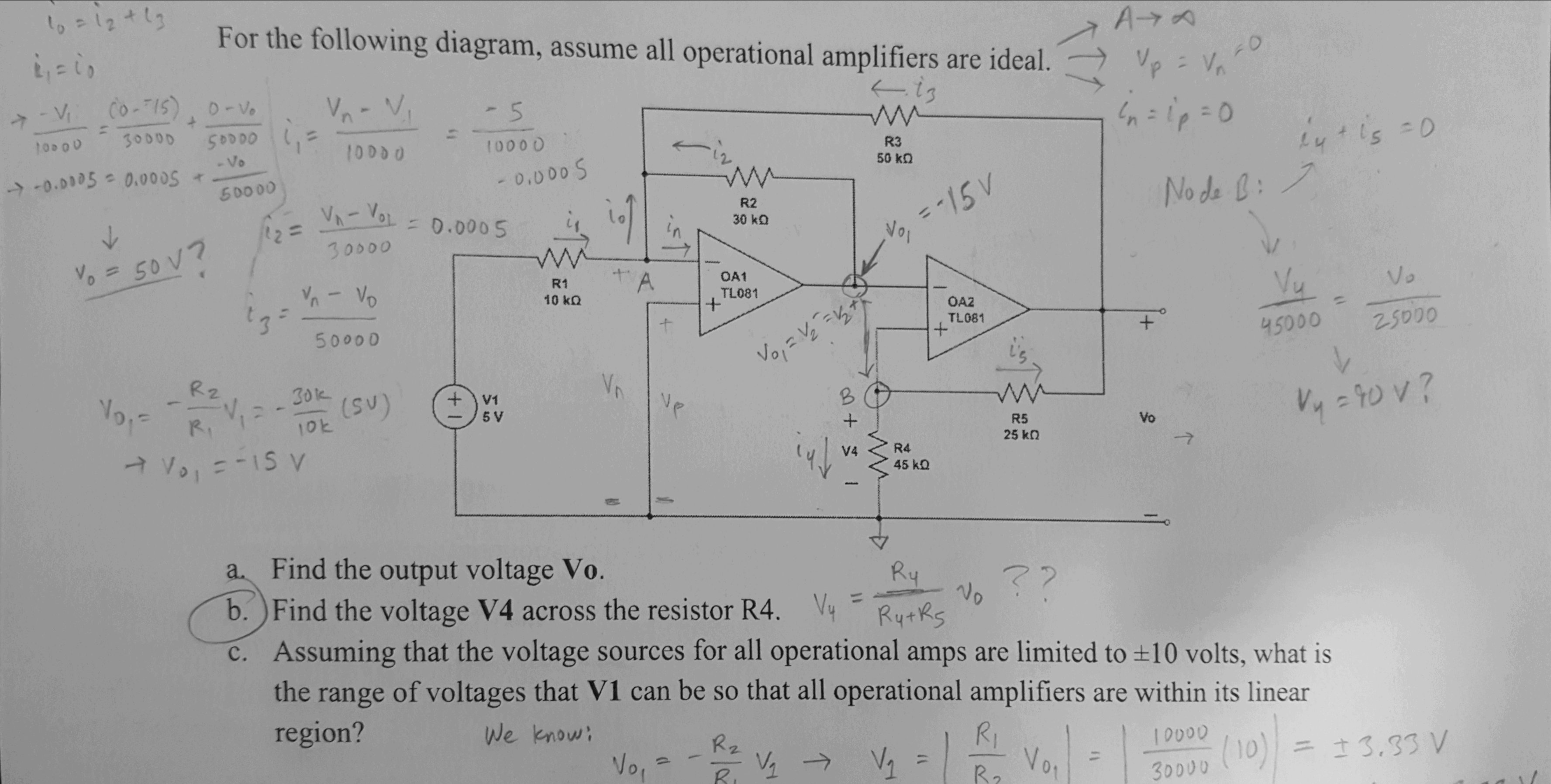 Op Amp Circuit Difference Amplifier