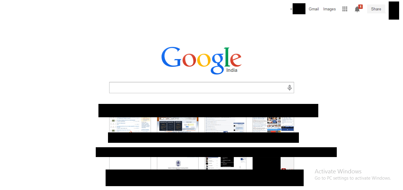 How to remove Google search and smaller tile in Chrome 33