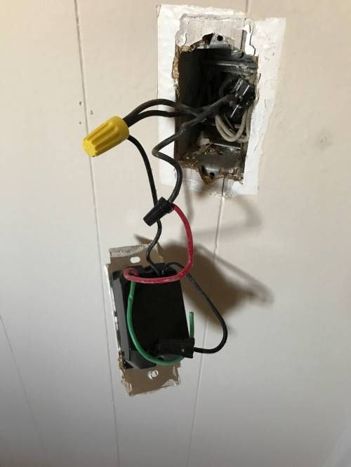 small resolution of electrical changing a dimmer to single pole with three black and wiring single pole dimmer switch electrical