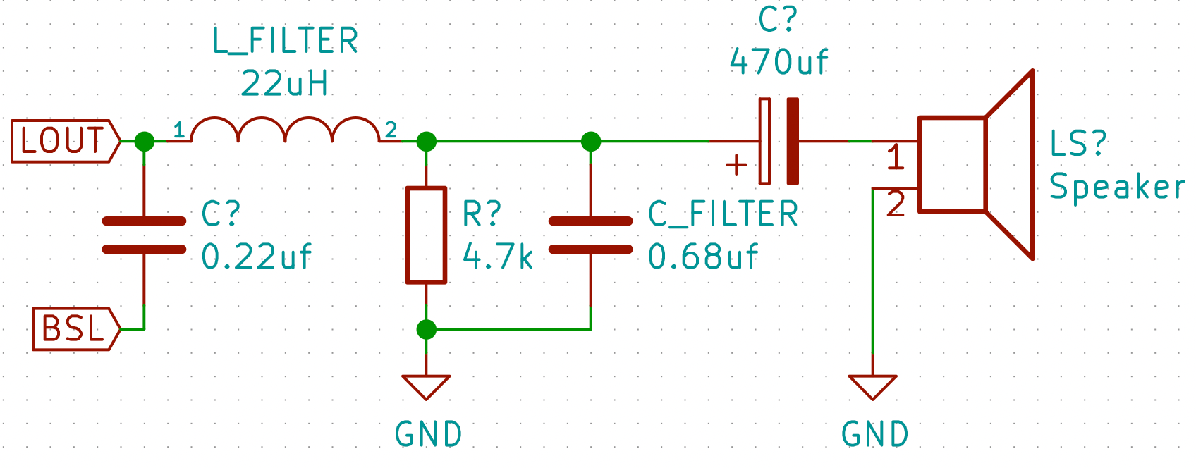 hight resolution of  output filter circuit