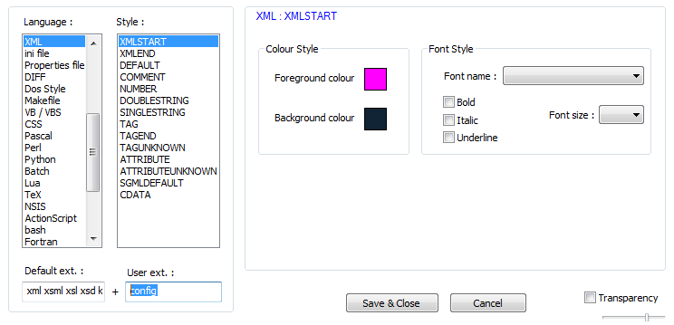 Make Notepad++ remember a particular language for a