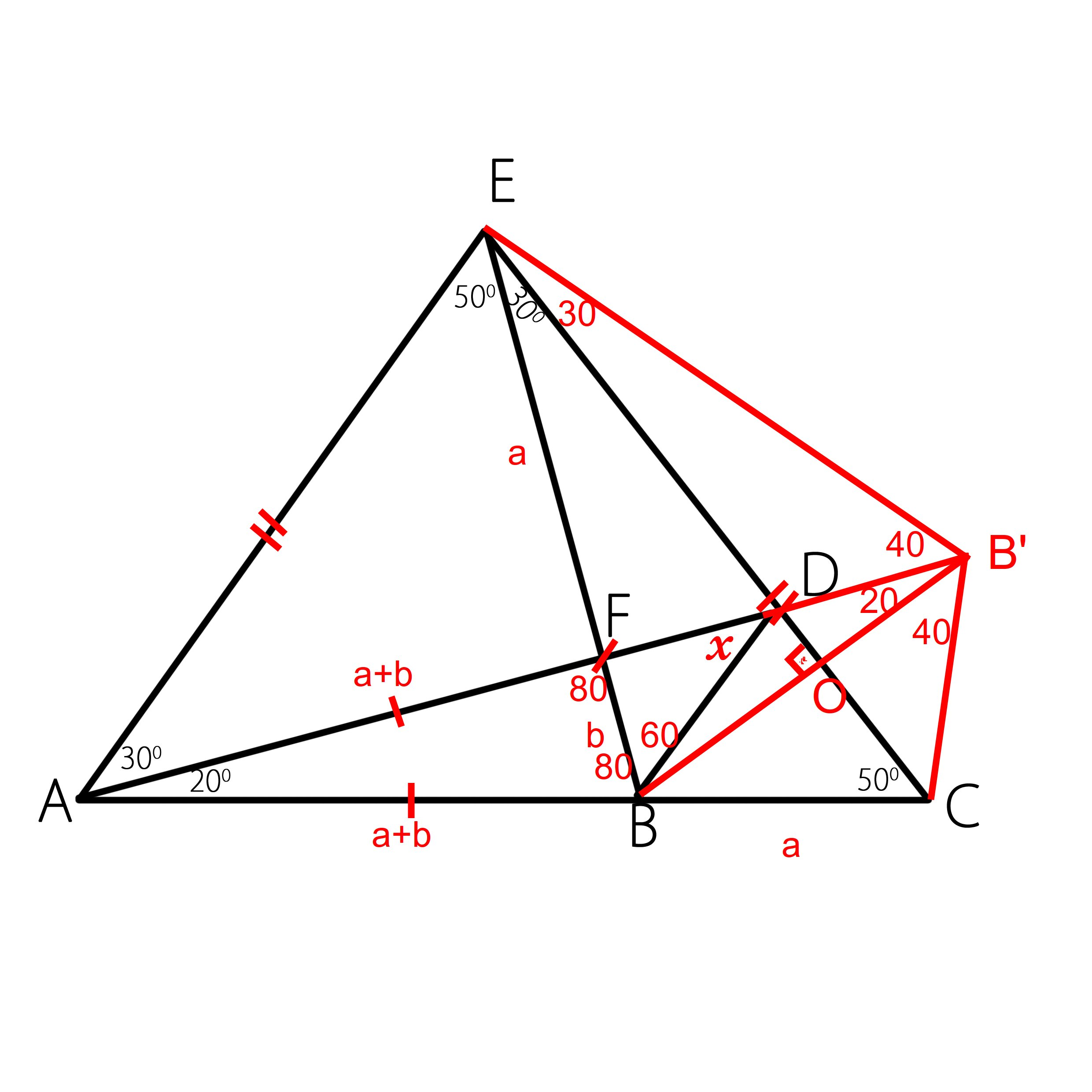 Euclidean Geometry: Find the value of angle $x$ in a