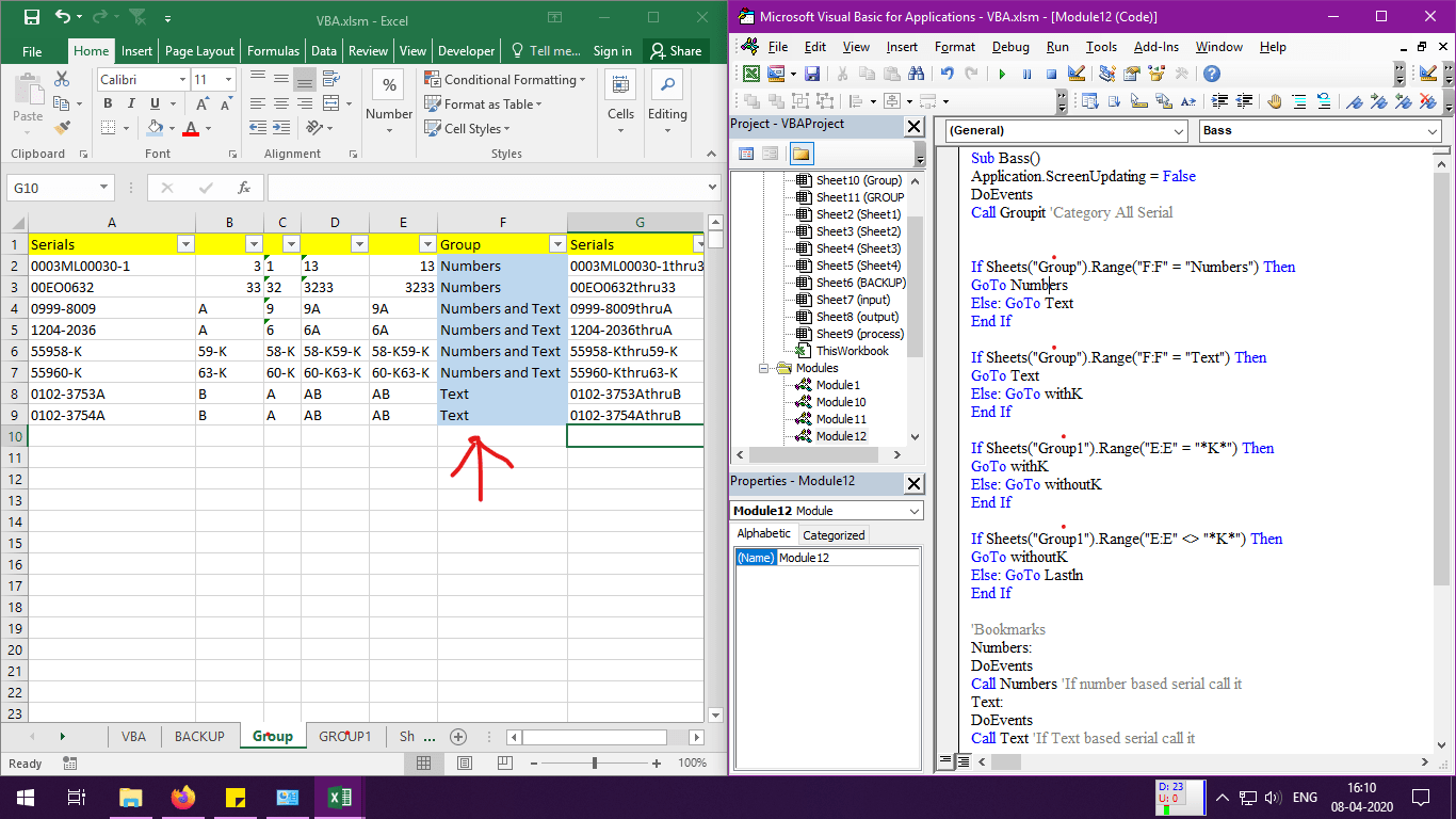 Excel Vba How To Skip A Line If Value Not Match