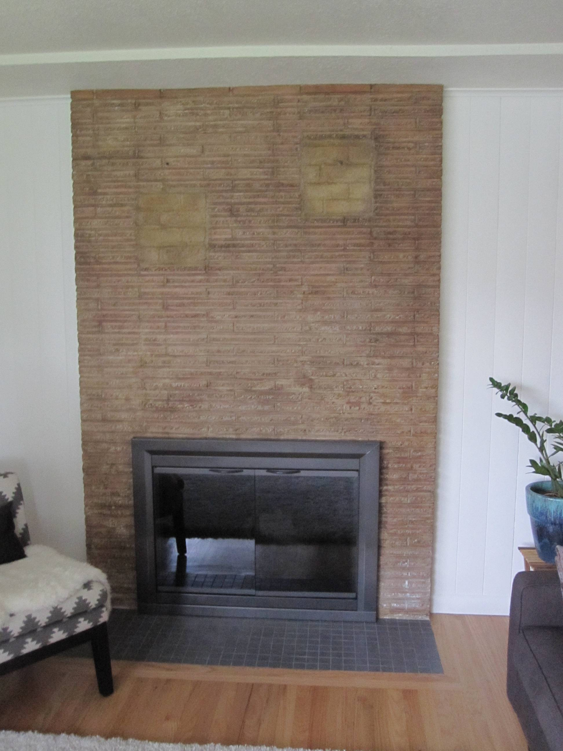 Previous Owner Filled In Fireplace Shelves With Incorrect