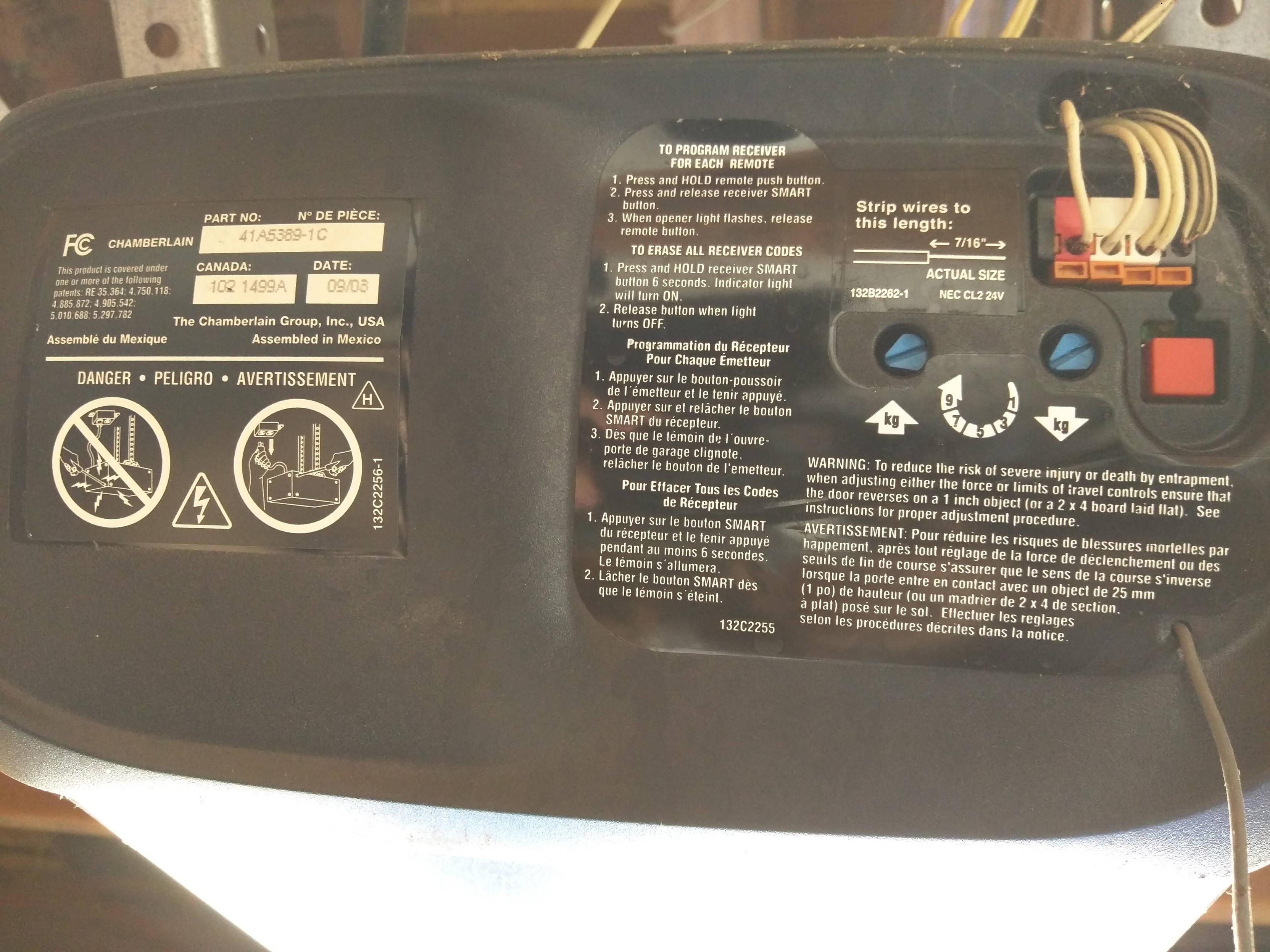 liftmaster garage door sensor wiring diagram audio rsx gm 4 3 ecu