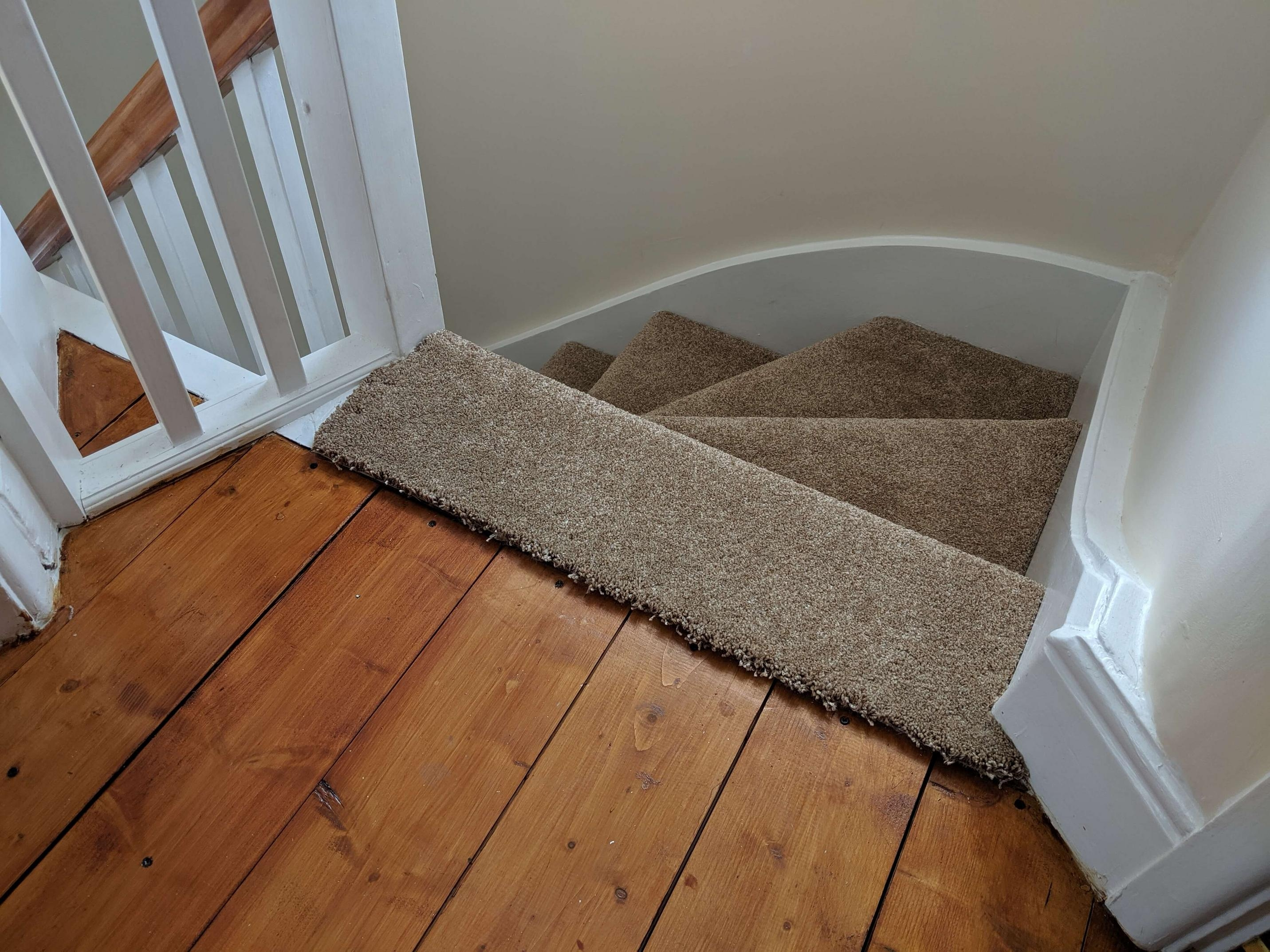 Which Style Transition Threshold Do I Need For Carpeted Stairs To | Hardwood Floor To Stair Transition | Porcelain Tile | Molding | Stair Tread | Vinyl Plank | Carpeted Stairs