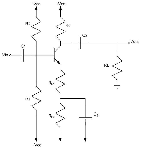 BJT Amplifier with Emitter Bypass Capacitor Design