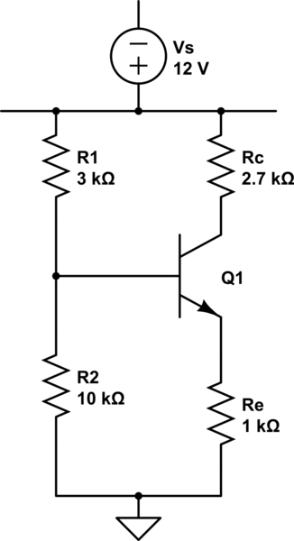 Voltage divider bias (BJT) leads to a huge voltage drop