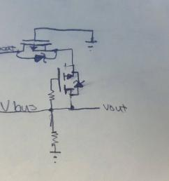 below is a picture of my circuit the grounds of both power sources are connected together and both mosfets have a low vgs threshold  [ 4303 x 2420 Pixel ]