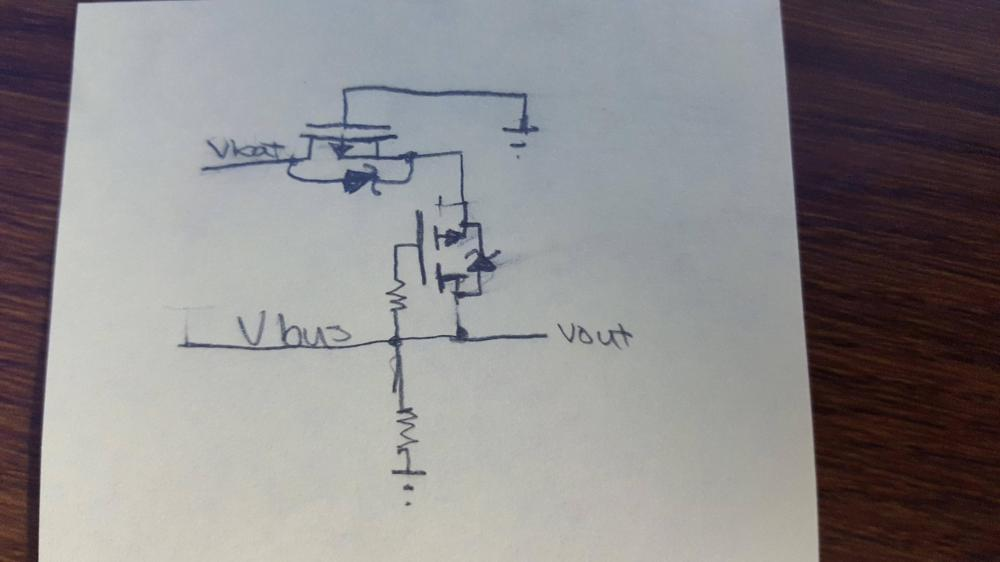medium resolution of below is a picture of my circuit the grounds of both power sources are connected together and both mosfets have a low vgs threshold