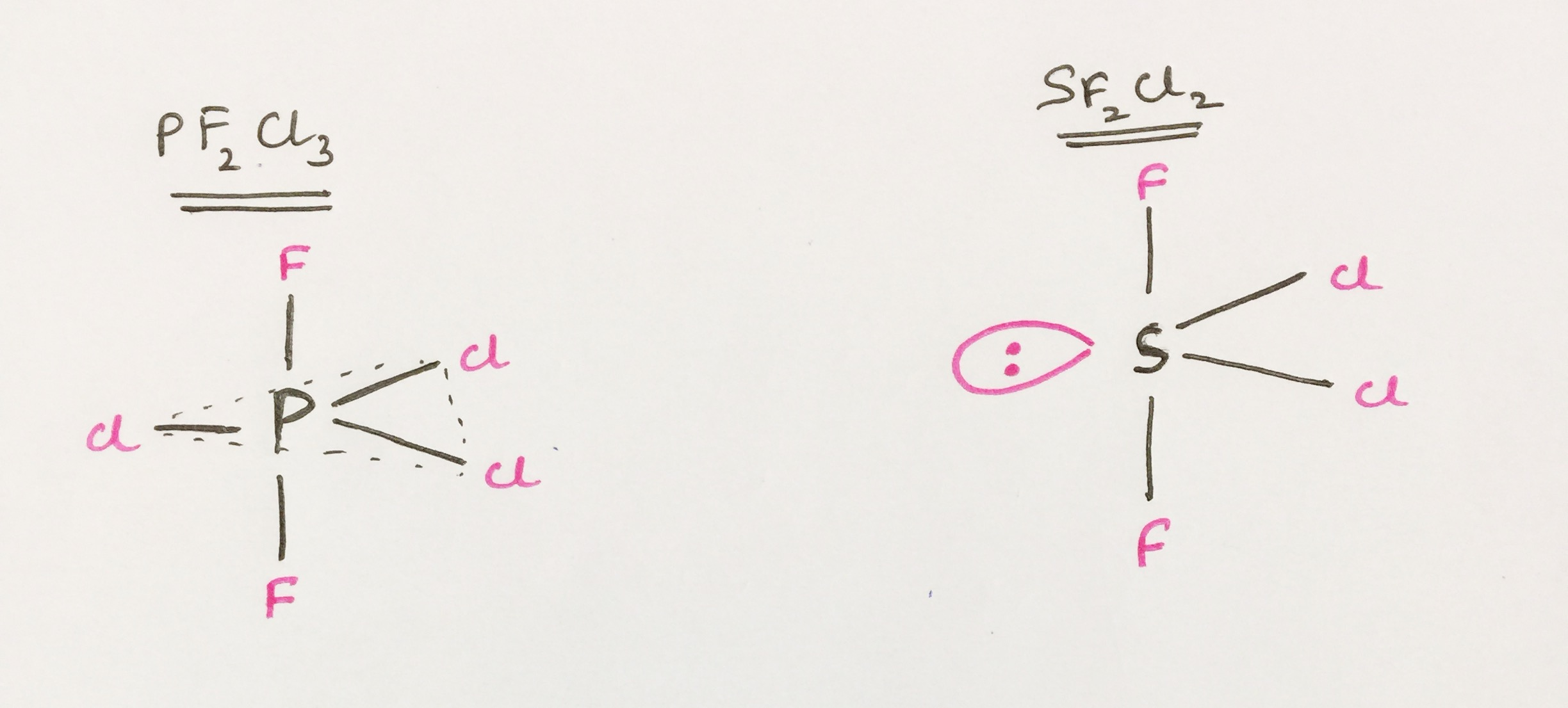double bond electron dot diagram tahoe parts molecular structure lengths equatorial vs axial in