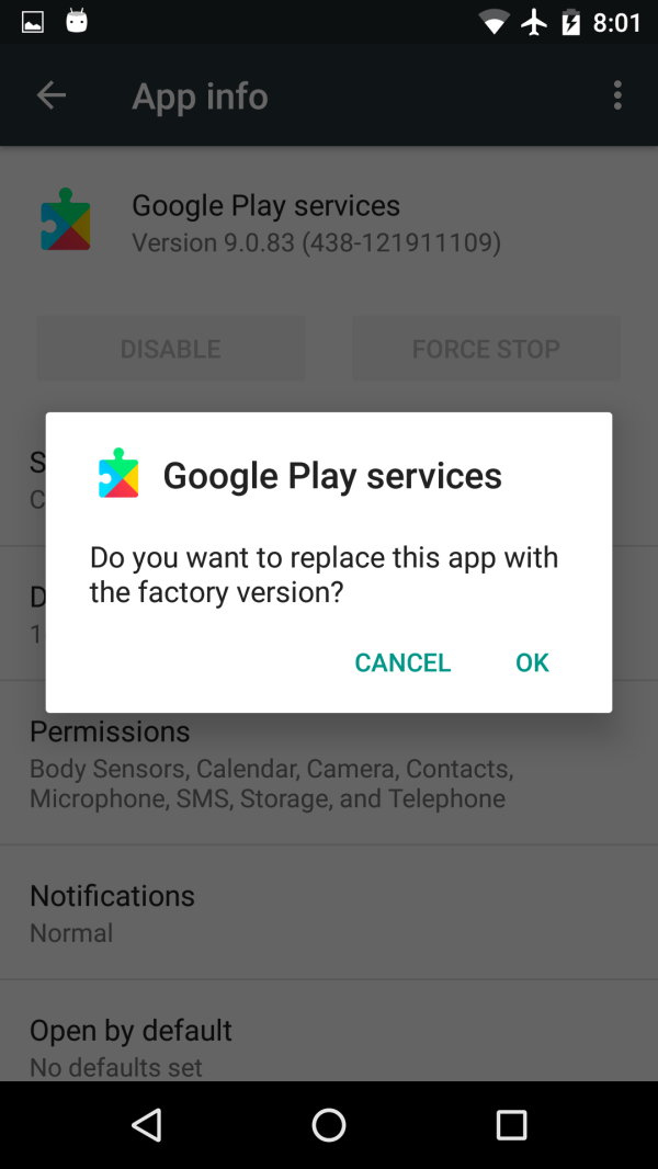 Google Play Services Update