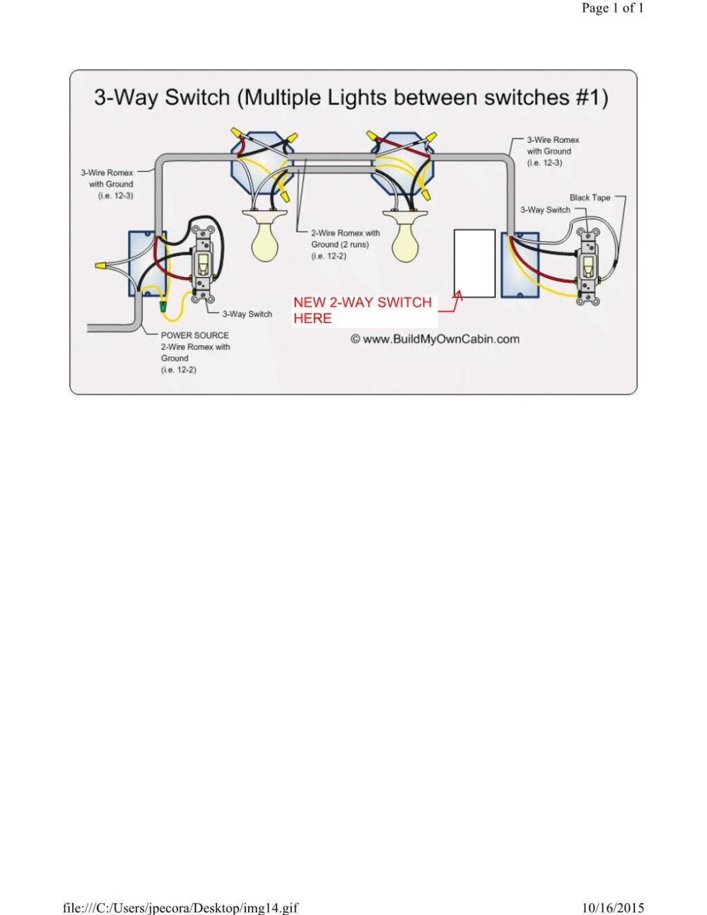 medium resolution of wiring a single pole switch next to a 3 way switch home wiring a single pole
