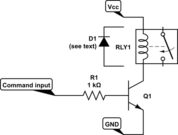 Command Solid State Relay using NPN transistor 2N2222