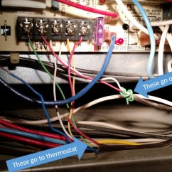 Home Air Conditioner Thermostat Wiring Diagram 2005 Jeep Liberty Headlight - Can I Connect An Additional Wire To Hvac System Where All The Terminals Are Full ...