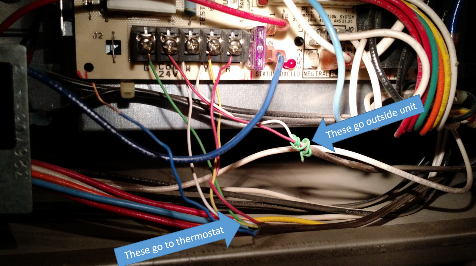 hight resolution of wires in hvac system