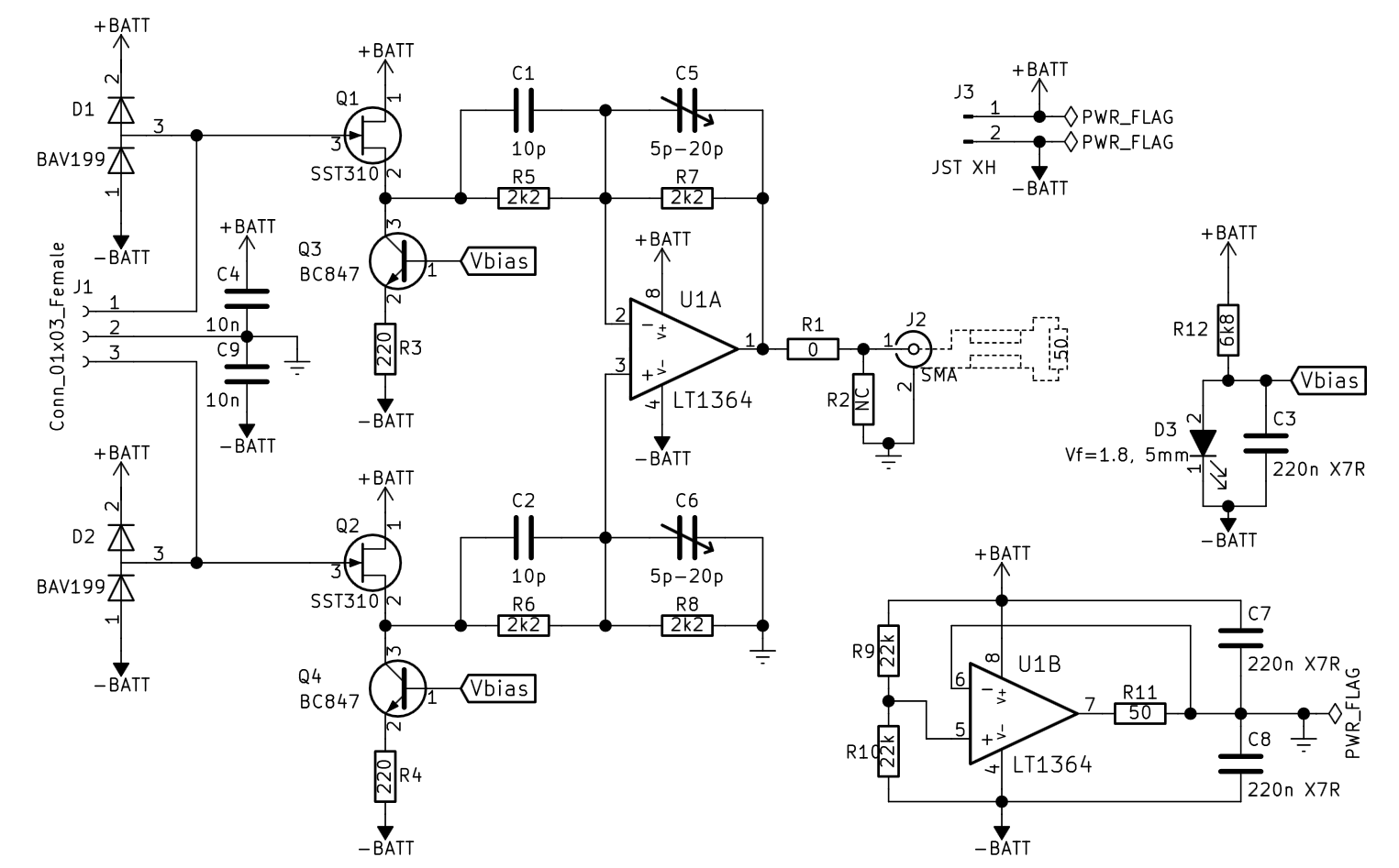 hight resolution of amplifier board schematic