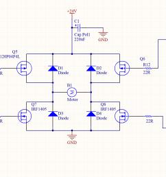 bridge driver circuit on h bridge motor driver circuit diagram circuit diagram h bridge motor driver [ 2471 x 902 Pixel ]