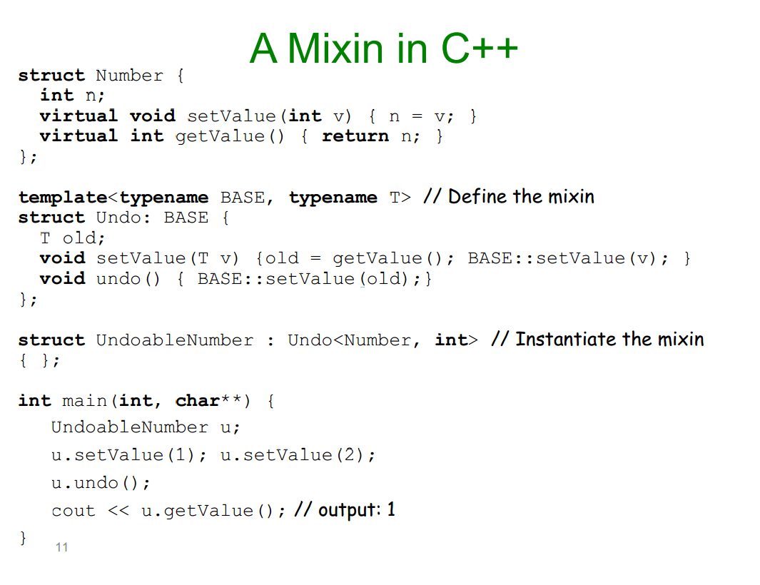 C What Are Mixins As A Concept Stack Overflow