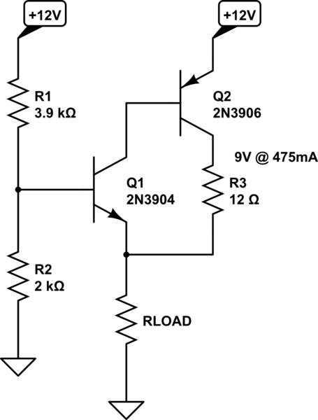 Emitter follower regulator with sziklai pair, transistor