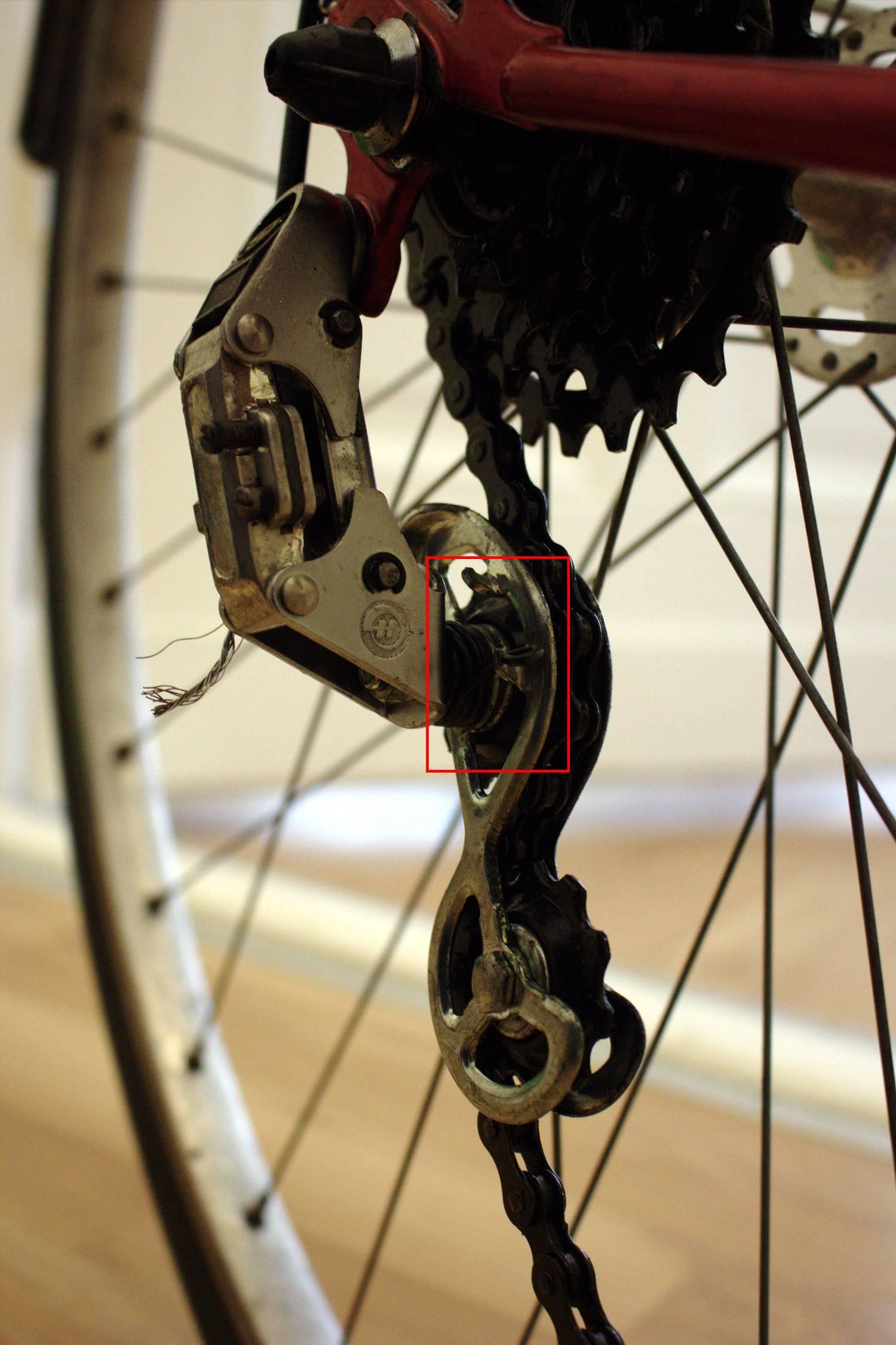 Road Bike Correct Setup Of Huret Rear Derailleur