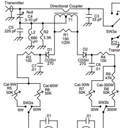 wattmeter half of mfj 941ek schematic diagram [ 944 x 1336 Pixel ]