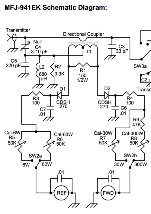 small resolution of wattmeter half of mfj 941ek schematic diagram