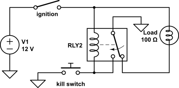 Spdt Relay Schematic Diagram Latching Relay With Kill Switch Electrical Engineering