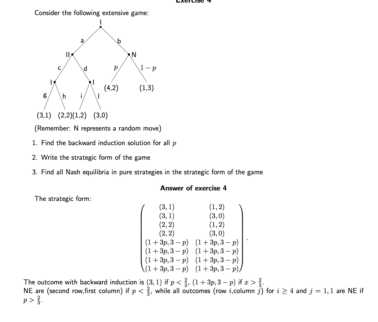 hight resolution of how to find nash equilibrium in a tree diagram