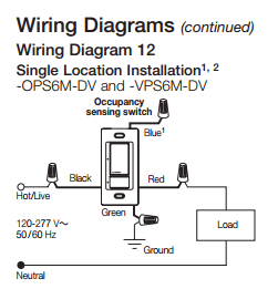 motion sensor light switch wiring diagram headlight dimmer electrical is there a that does not load required