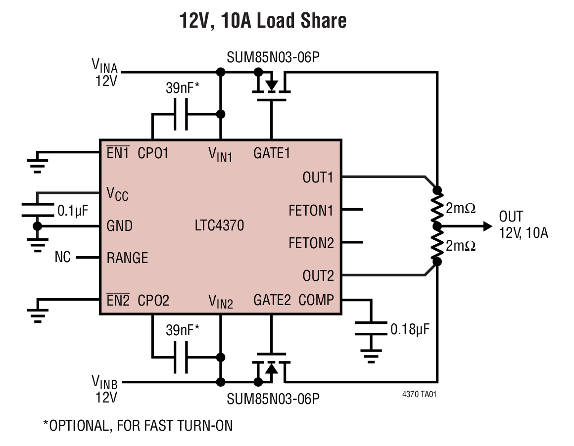 hight resolution of what are the current sense resistors for in the typical application on the ltc4370 datasheet