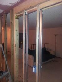 Replacing pocket door with prehung swinging door ...
