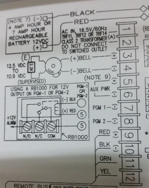 small resolution of internal alarm panel